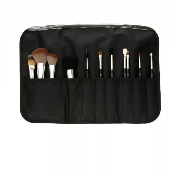 Make-Up-Pinsel-Set mit Tasche (13 Stk)